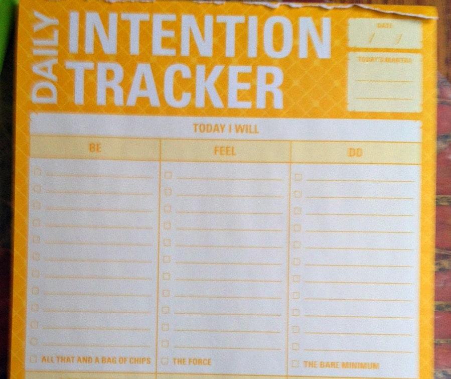 intentions list sm
