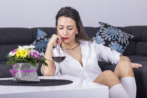 depressed with alchohol
