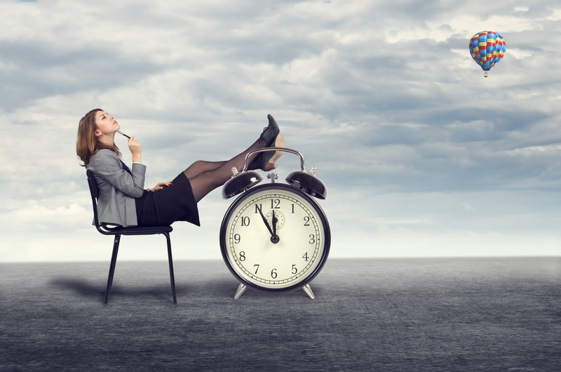 woman wasting time