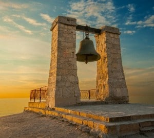 http://www.dreamstime.com/royalty-free-stock-photo-bell-sunset-near-sea-chersonese-image36535205