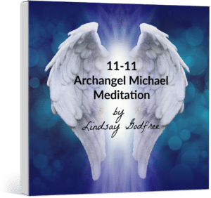 CD cover 11-11 Archangel Michael Meditation by Lindsay Godfree