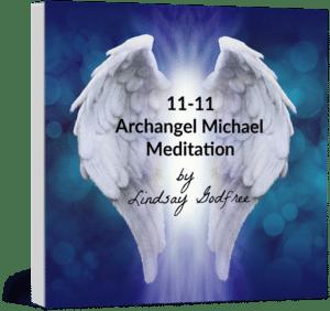 CD cover 11-11 Archangel Michael Meditation by Lindsay Godfree