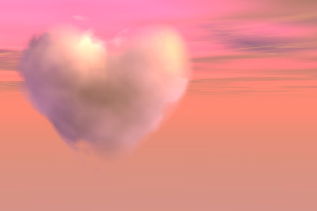 pink cloud of love